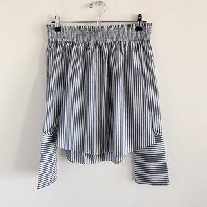 NWT Derek Lam 10 Crosby 100% Cotton Stripe Blouse
